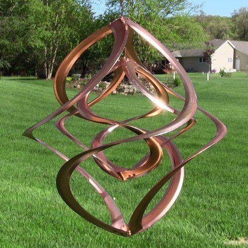 Double Helix Copper Wind Spinner 14 Kinetic