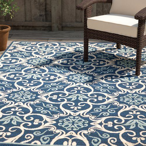 Found It At Joss Main Cassie Navy Indoor Outdoor Rug Sunrooms