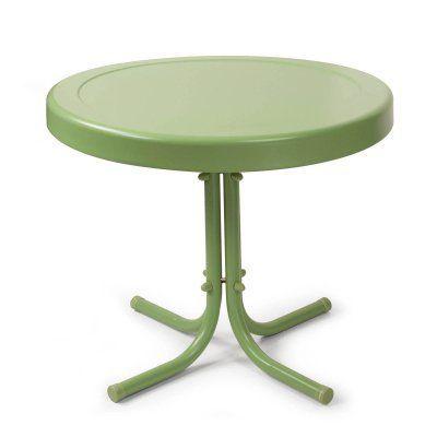Outdoor Crosley Retro Metal Side Table Oasis Green - CO1011A-GR