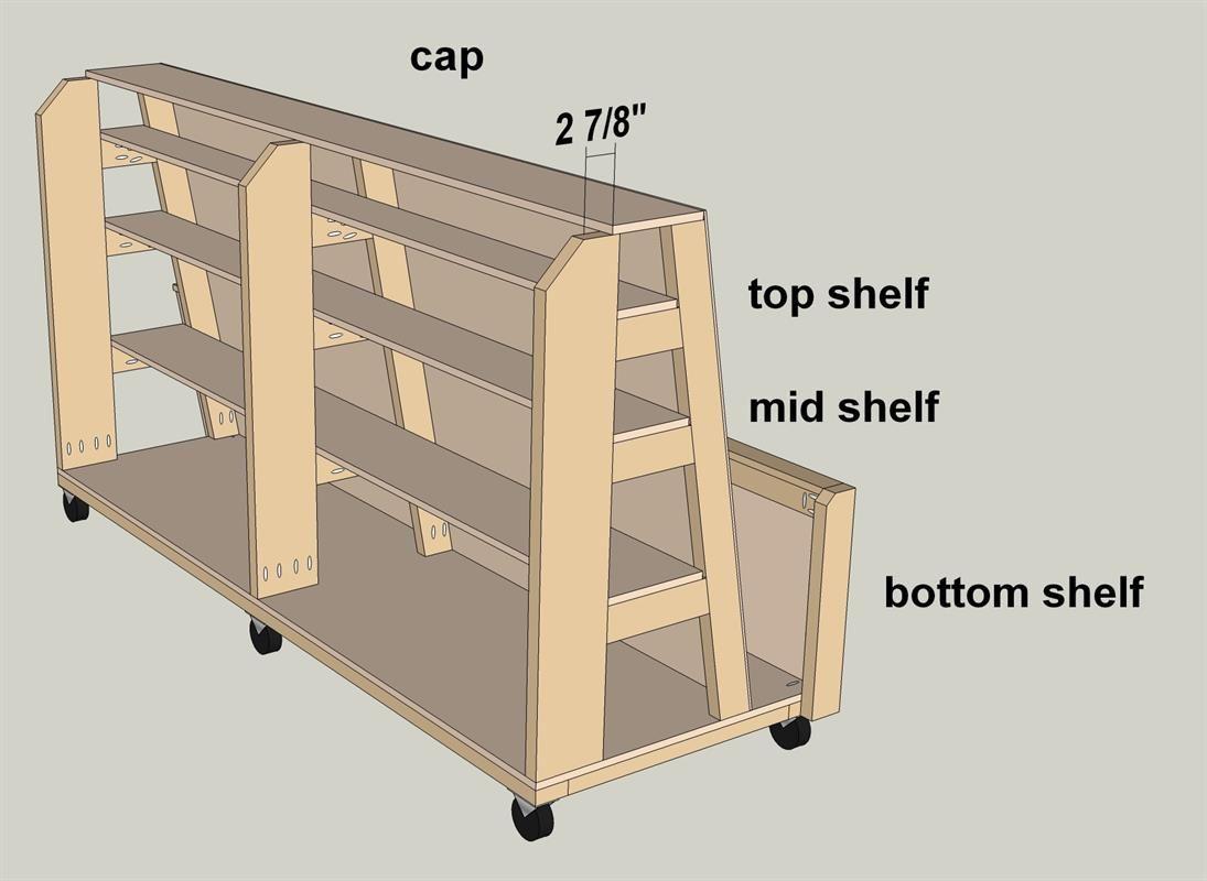 Garage Lumber Storage Rack