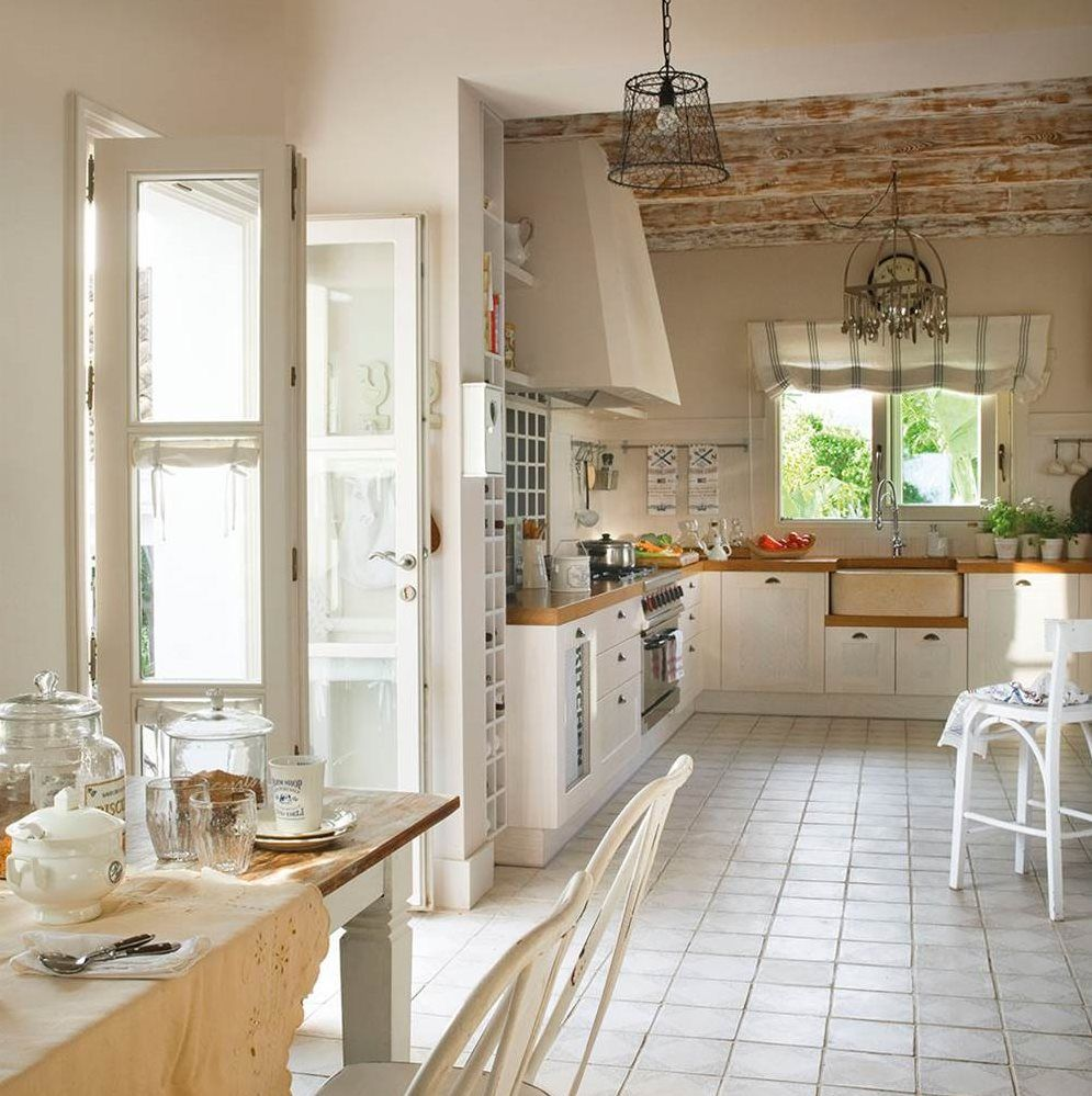 Redecora tu cocina - Cocinas vintage blancas ...
