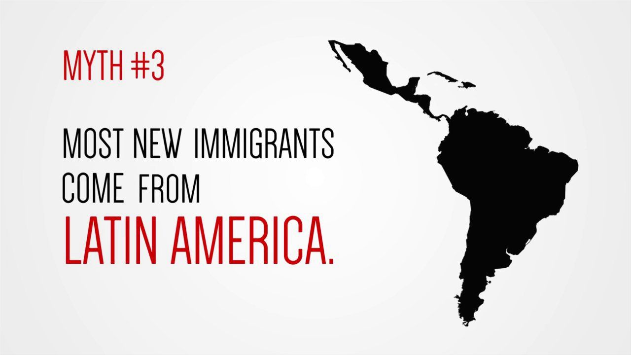 this ain't no ellis island: the top 5 immigration myths.   pinterest