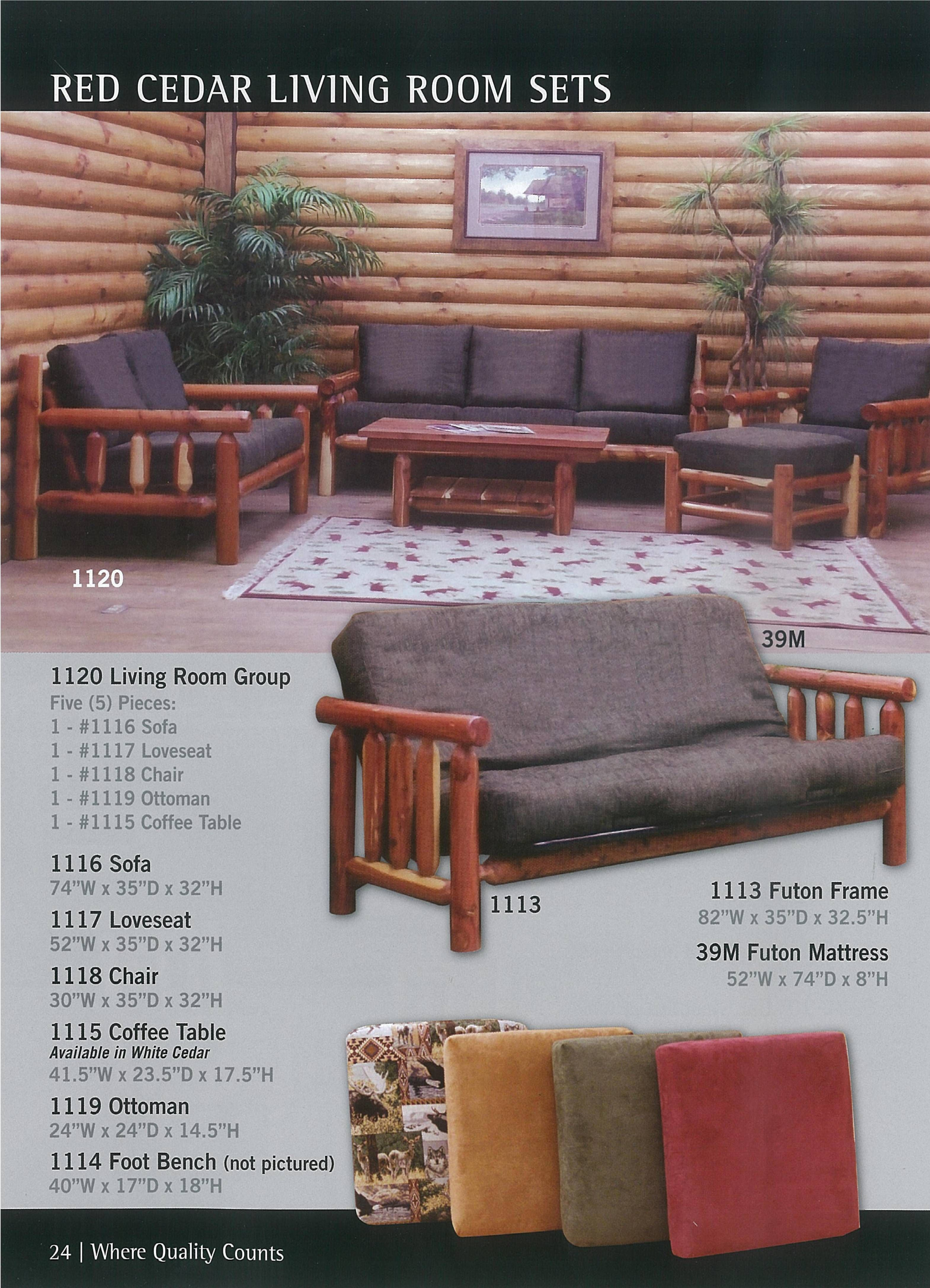 Lodge Living Room Furniture Ergonomic Chair Canada Cabin Ranch For Home