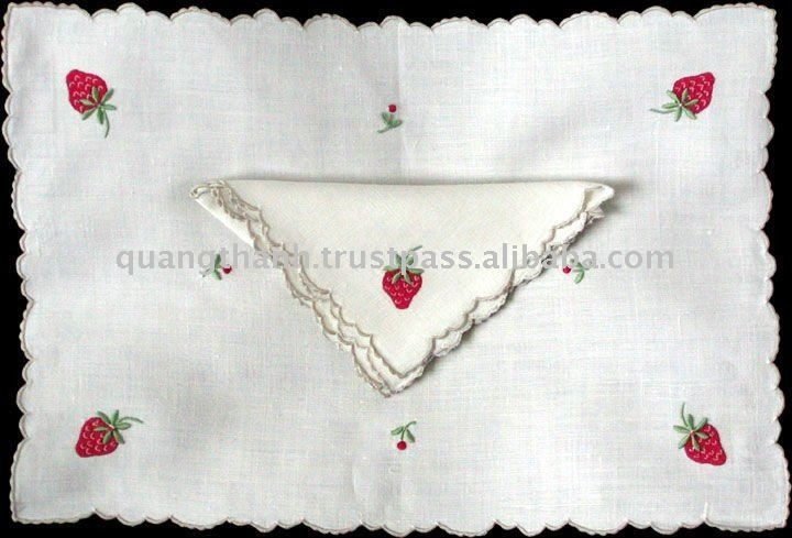 Portuguese handmade linen | embroidery Vintage Linen Placemat Napkin Set,View embroidery placemat ...