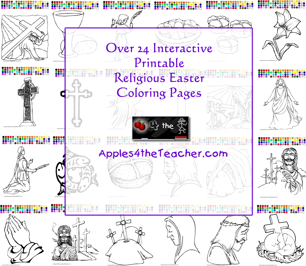 24+ Religious Easter Coloring P… | Easter Religious Thematic Unit ...