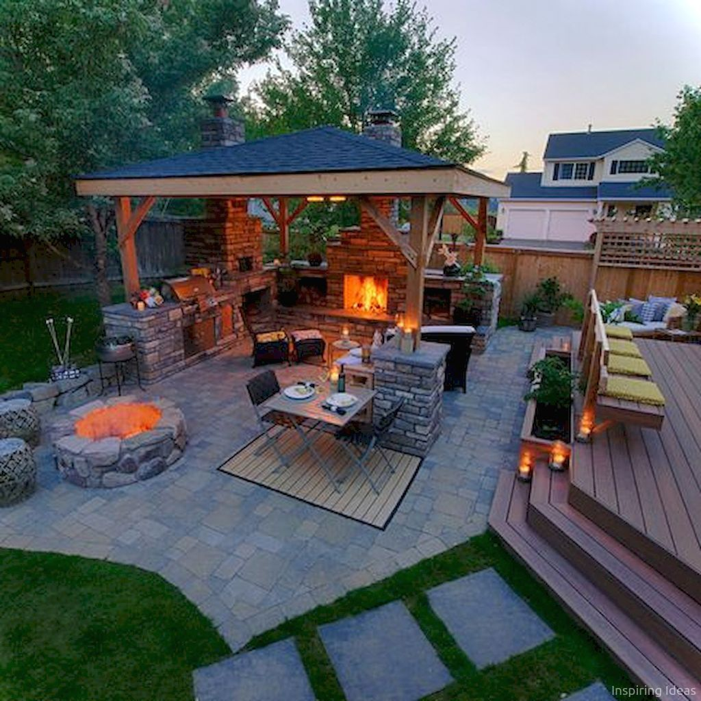 Landscaping Ideas In 2019: 76 Stunning Backyard Patio Ideas Pavers Walkways 23 In
