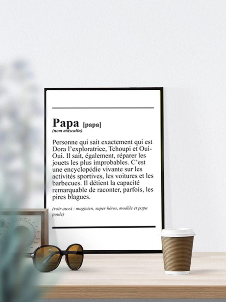 Fichier num rique a4 affiche d finition papa for Define minimalist design