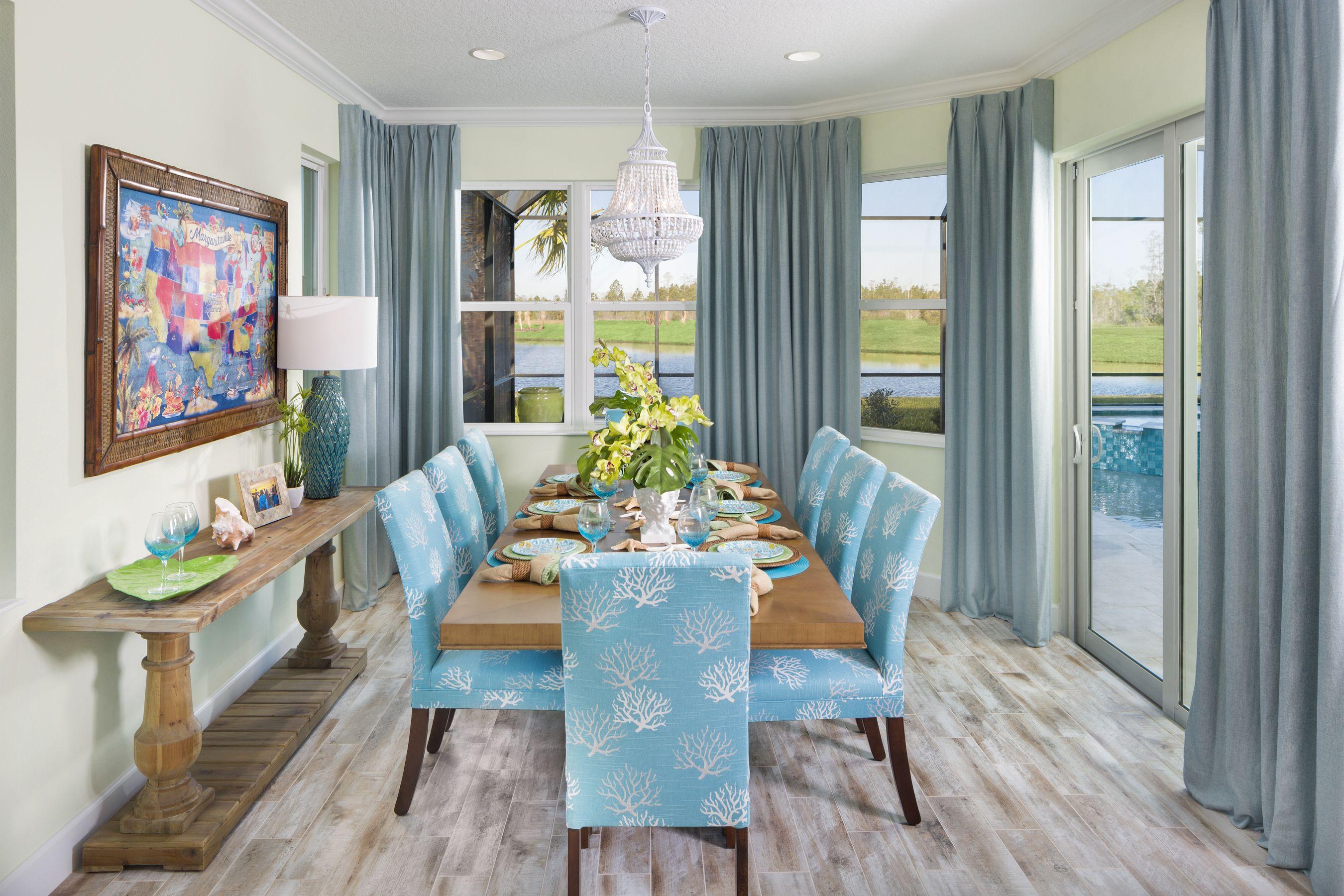 Aruba Model At Latitude Margaritaville Daytona Beach Minto Communities Coastal Dining Room Coastal Bedrooms Coastal Dining Room Decor