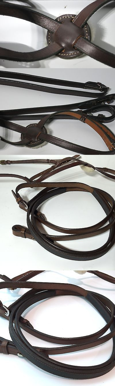 Other English Tack 3155: Beval, Hunter/Jumper Figure 8 Noseband,1/2 Inch,Flat/W/ Flat Reins/ Brown/Horse -> BUY IT NOW ONLY: $75 on eBay!