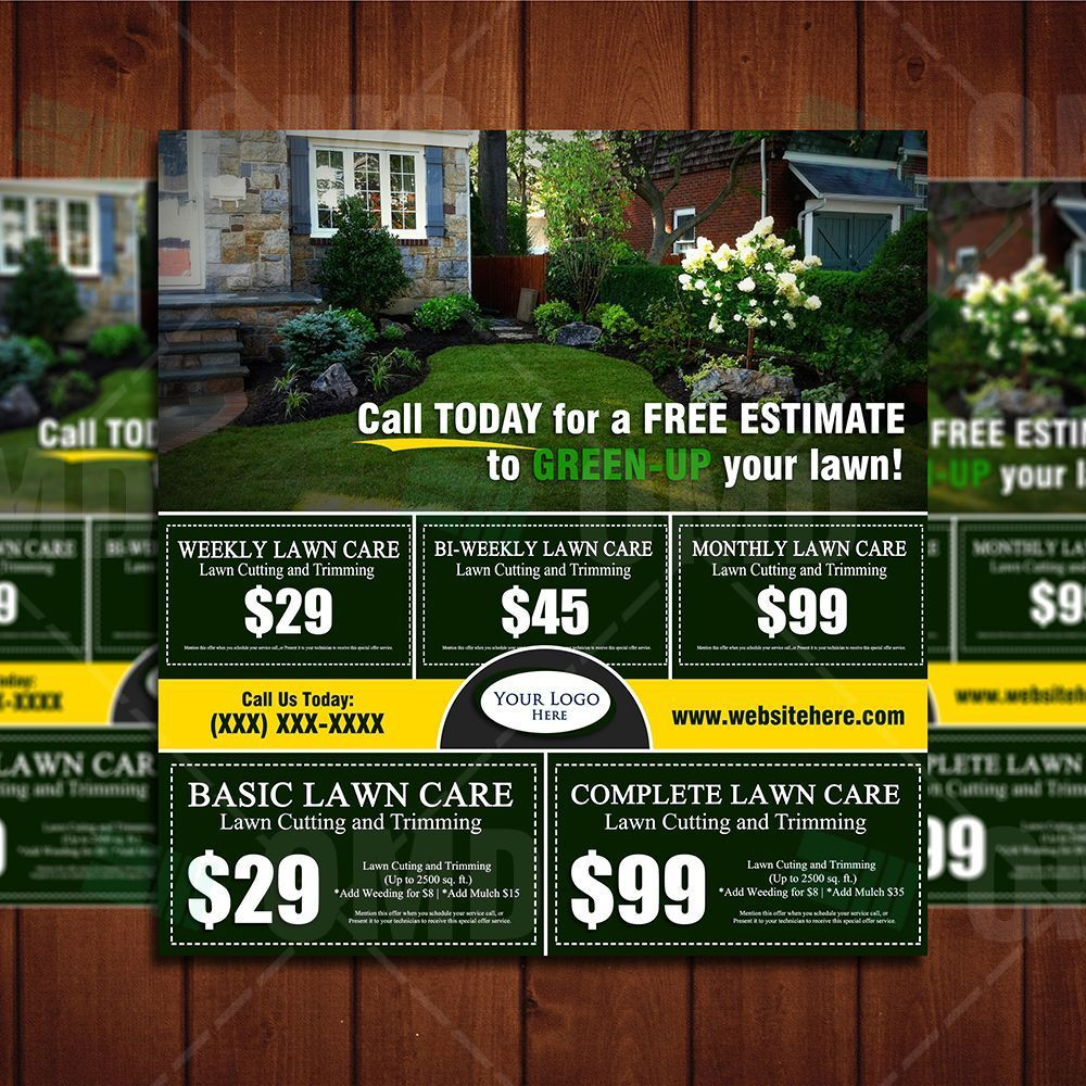 Lawn Care Marketing Postcard 3 Lawn care business, Lawn
