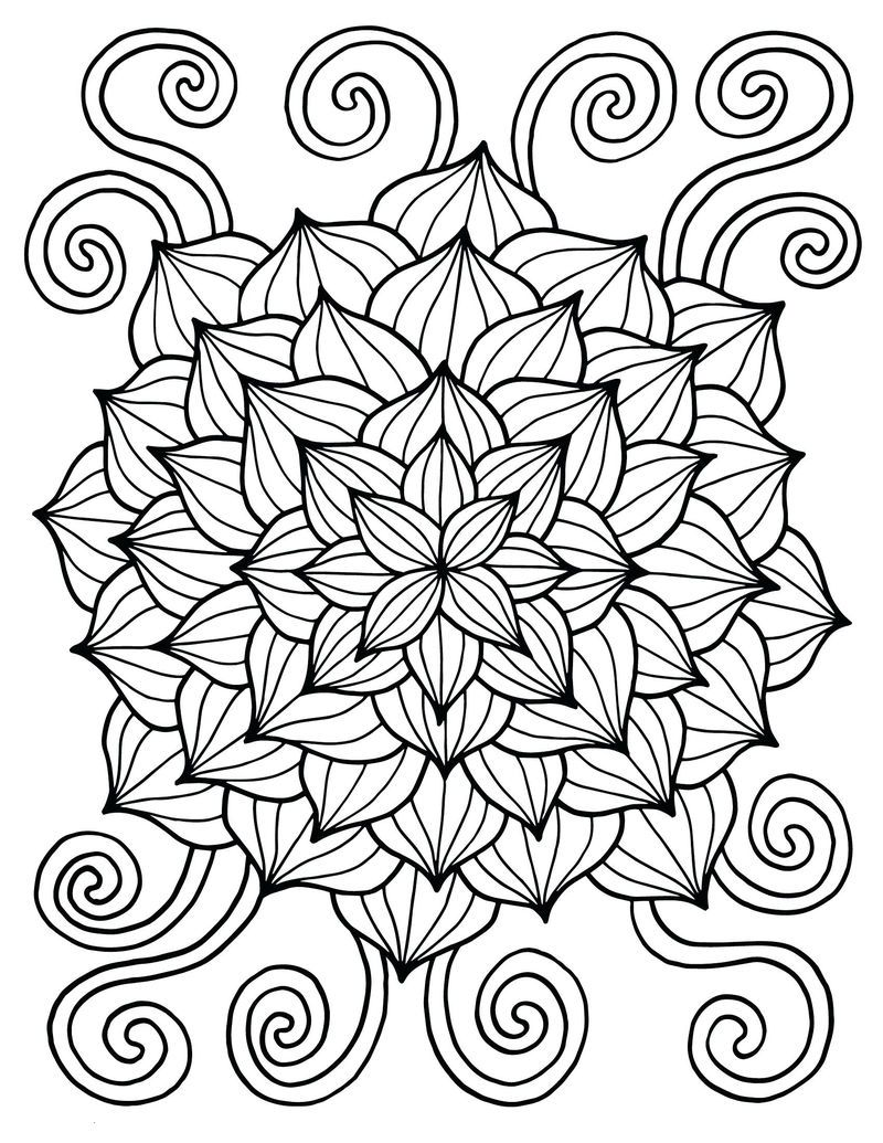 Flower For Spring Coloring Page See The Category To Find More