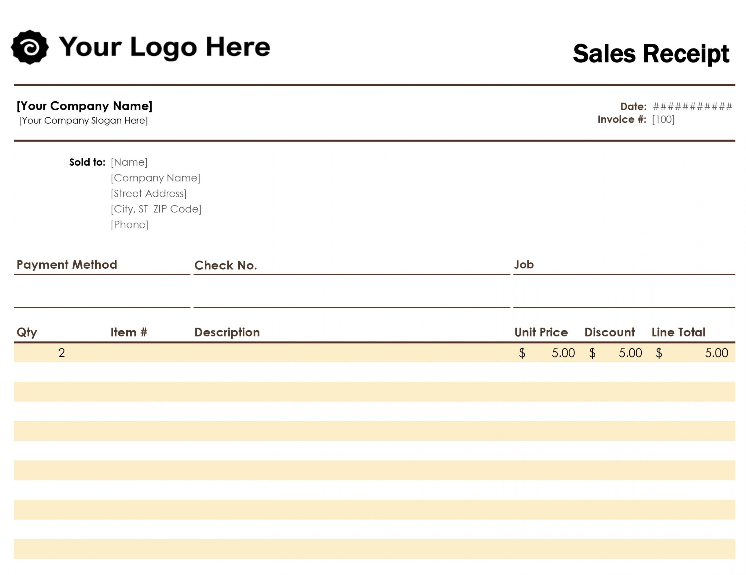 Browse Our Example Of Garage Sale Receipt Template Receipt Template Invoice Template Words