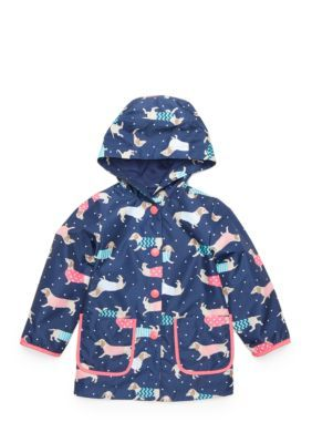 bfa0e2635 Oshkosh B gosh Dog Print Rain Coat Toddler Girls - Navy - 2T