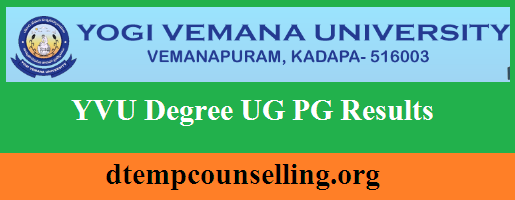 Yvu Degree Results 2019 Check Ug Pg 2nd 4th 6th Sem Result Date University Exam Exam Marks University Teaching