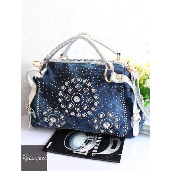 Blue Beading Vintage Shoulder Messenger Bag ($46) ❤ liked on Polyvore featuring bags, messenger bags, beaded bags, courier bag, vintage bags, blue bag and vintage messenger bag