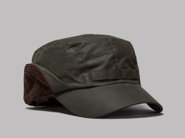 Barbour Waxed Cotton Hunting Cap Sage Barbour Wax