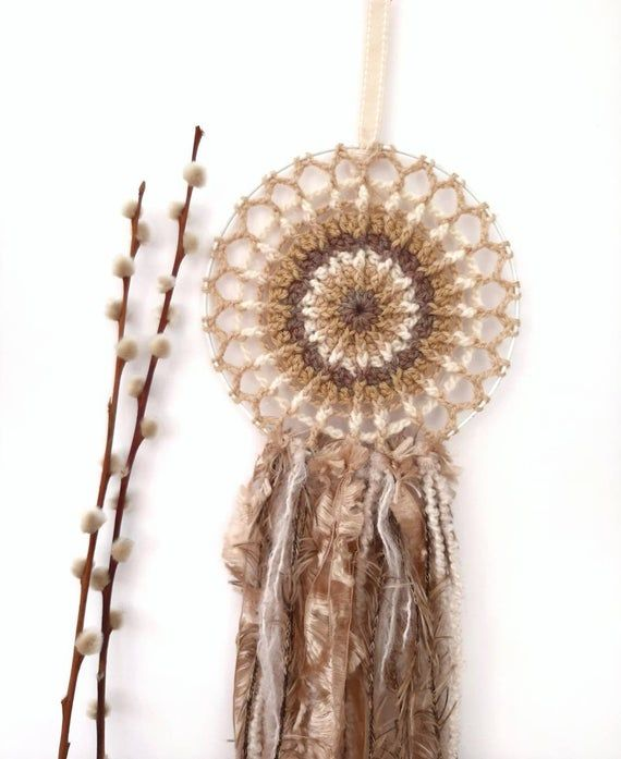 neutral coloured crochet wall hanging natural home decor on hygge wall decor id=43295