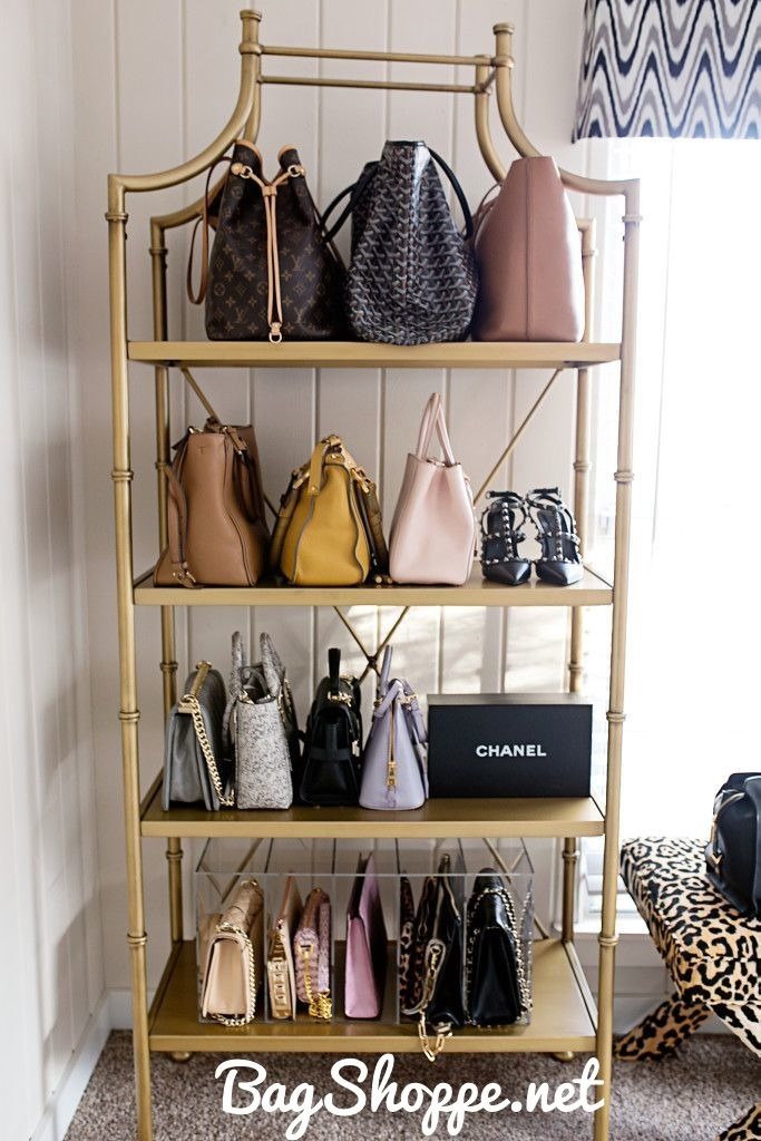 Photography By: Angie Garcia Purse Shelf: Pottery Barn Teen Purse Organizer:  GLAMboxes [c/o] X Benches: LivenUPdesign [c/o] Rug: Rugs USA Clothing Rack:  ...