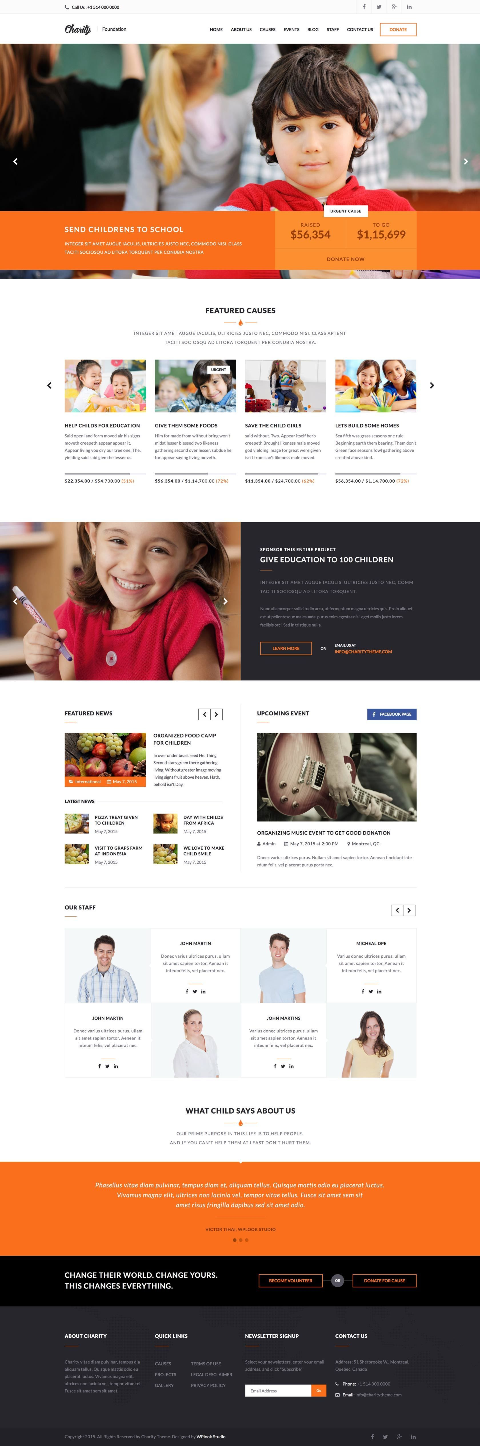 Charity Foundation Html Template Preview Nonprofit Website Design Web Layout Design Web App Design