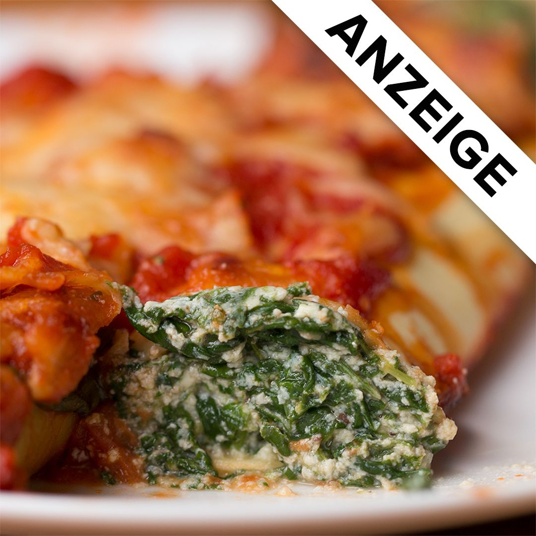 Spinat-Ricotta-Cannelloni #foodrecipies