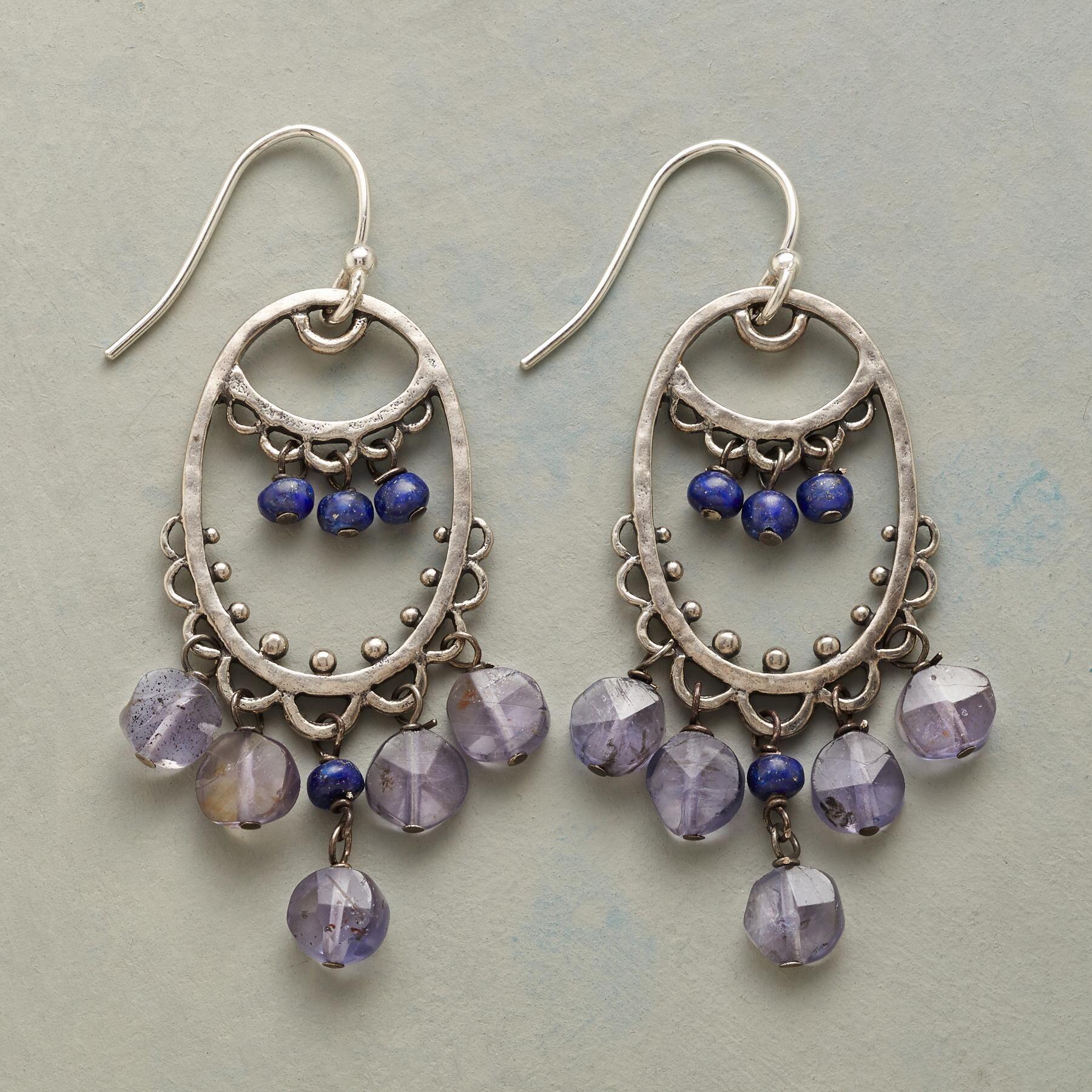 Women Delicate Shells Dangle Hook Piercing Earrings with Colored Beads Decor