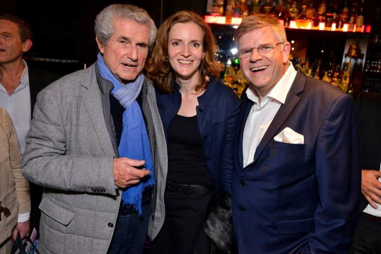 Claude Lelouch, Nathalie Kosciusko-Morizet et Sylvain Bonnet à la Soirée des Trophées du Bien-être au Théâtre de la Gaîté-Montparnasse.