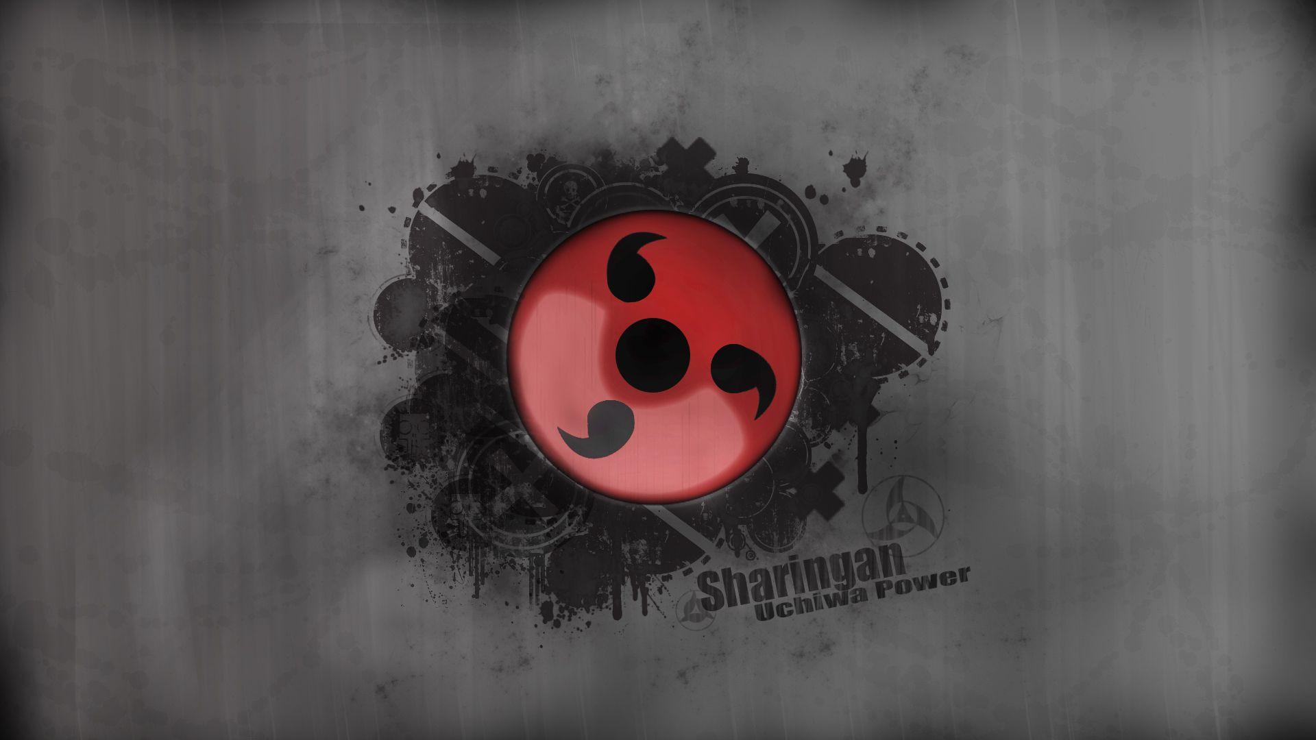 Naruto Logo Hd Wallpaper With Images Sharingan Wallpapers