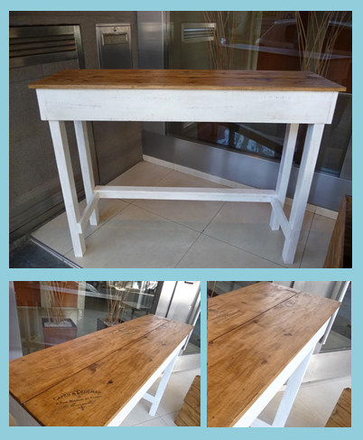 barra desayunadora en blanco y madera | mesas - barras - ratonas ...