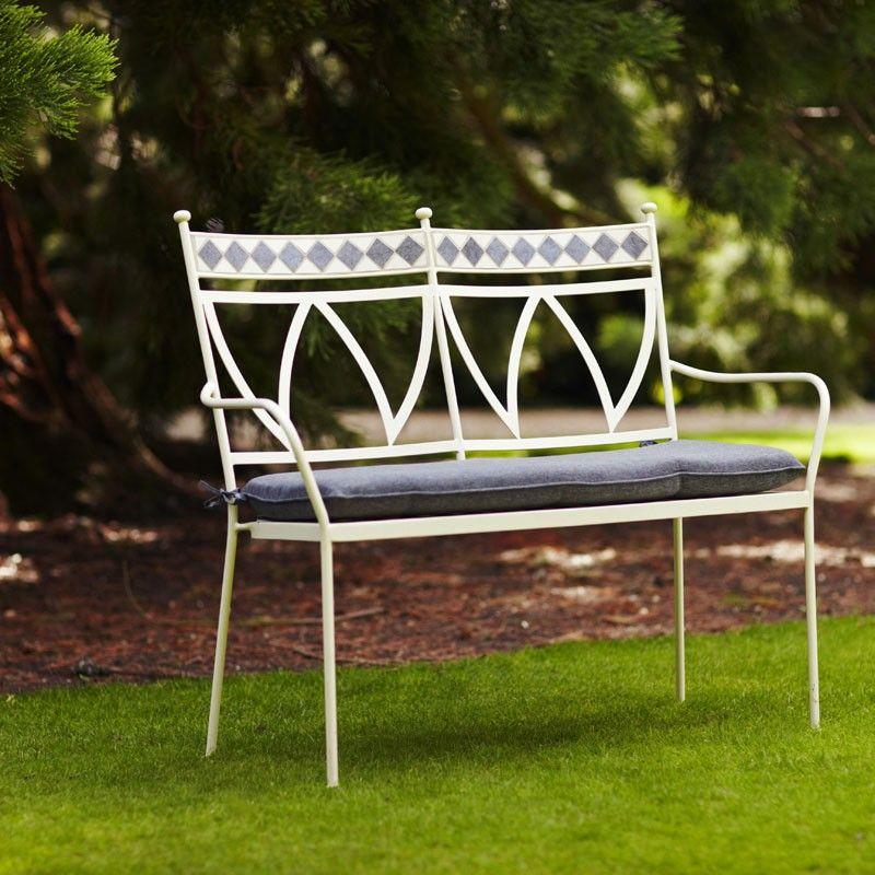 Incredible Marrakech Bench With Cushion Stunning Ceramic Tiled Garden Spiritservingveterans Wood Chair Design Ideas Spiritservingveteransorg