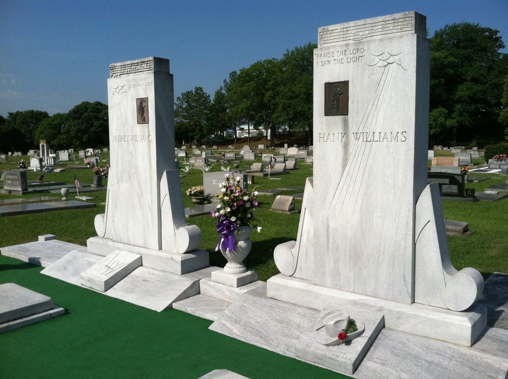 Grave Marker Hank Williams, country singer (Cold Cold