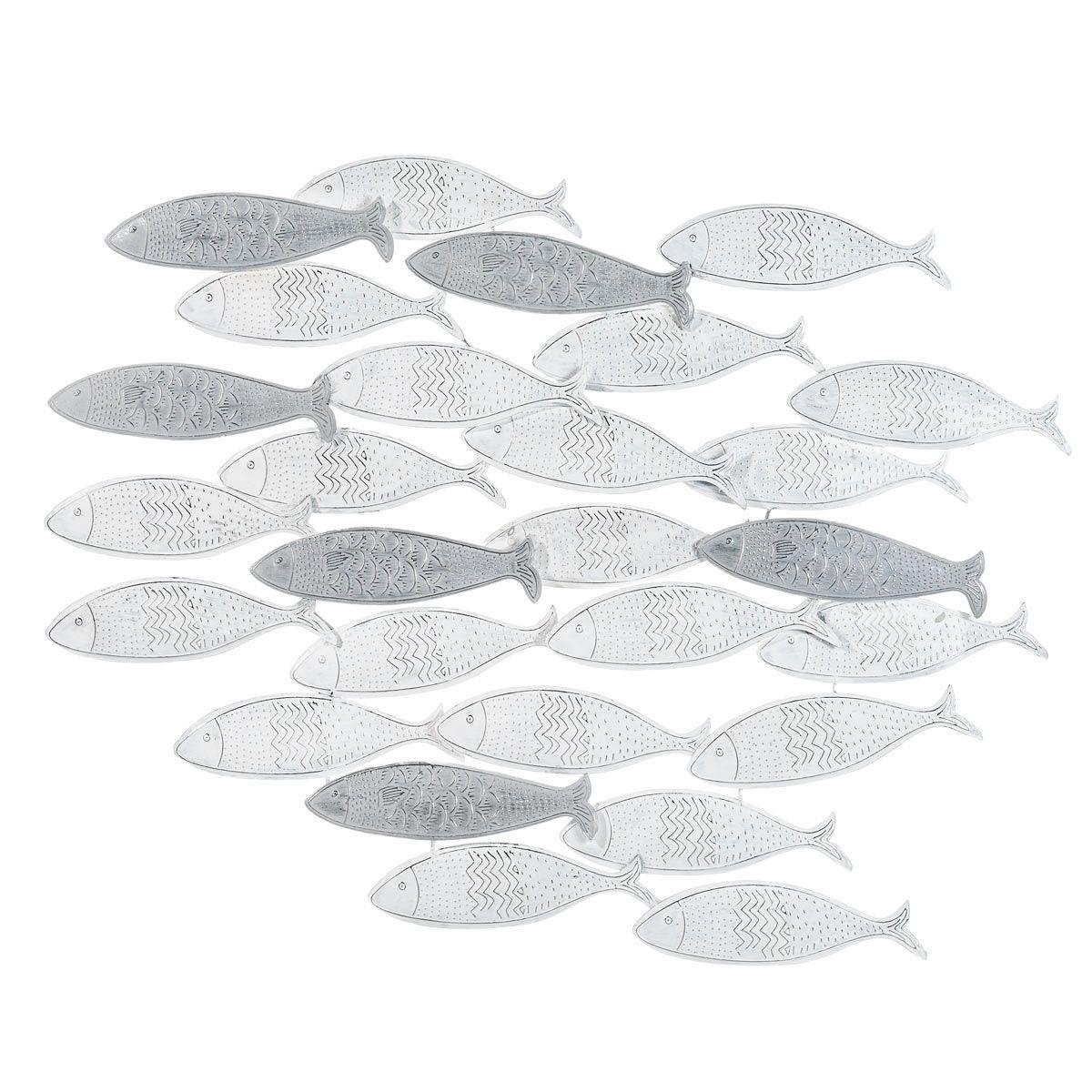 Wanddekoration Fischschwarm aus Metall Jetzt bestellen unter ...