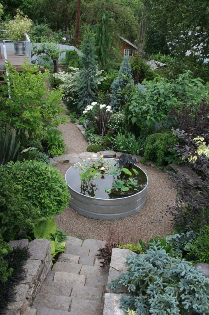20 Koi Pond Ideas To Create A Unique Garden I Do My Selph In 2020 Garden Makeover Container Water Gardens Rock Garden Landscaping