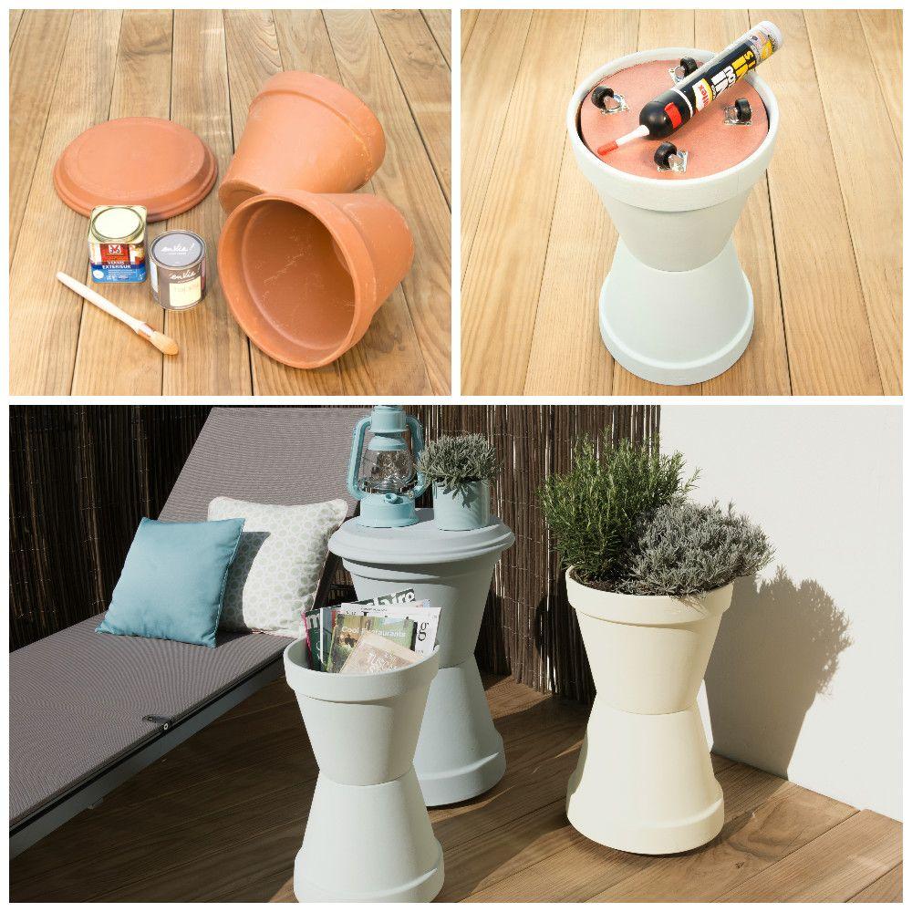 Faire Sa Peinture Extérieure Soi Même diy - ces tables d'appoint d'extérieur à faire soi-même