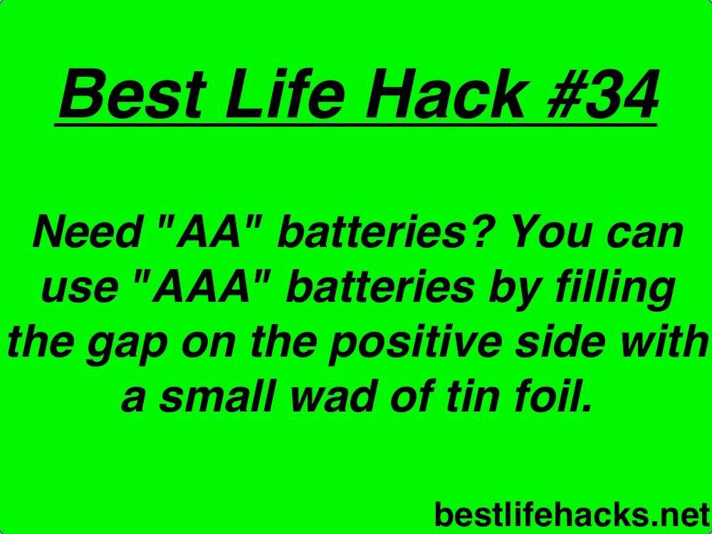 Out Of Aa Batteries Lifetricks Making Life Easier Household Hacks Emergency Preparedness
