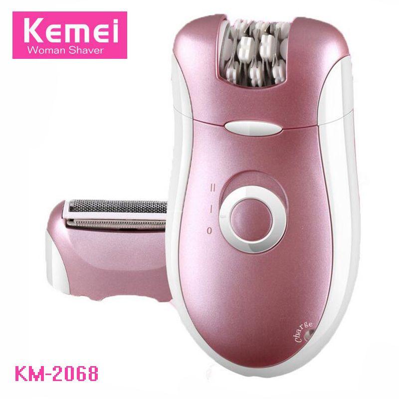 Kemei 2 In 1 Mini Women Electric Shaver Razor Bikini Armpit Body