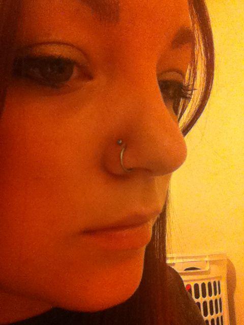 Double nose piercing #doublenosepiercing