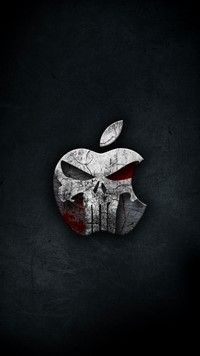 Thepunisher The Punisher Iphone7plus Wallpaper Apple Logo Apple