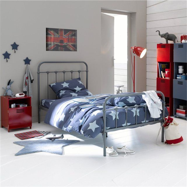 lit enfant barreaux asper gar ons mobiles et rouge. Black Bedroom Furniture Sets. Home Design Ideas