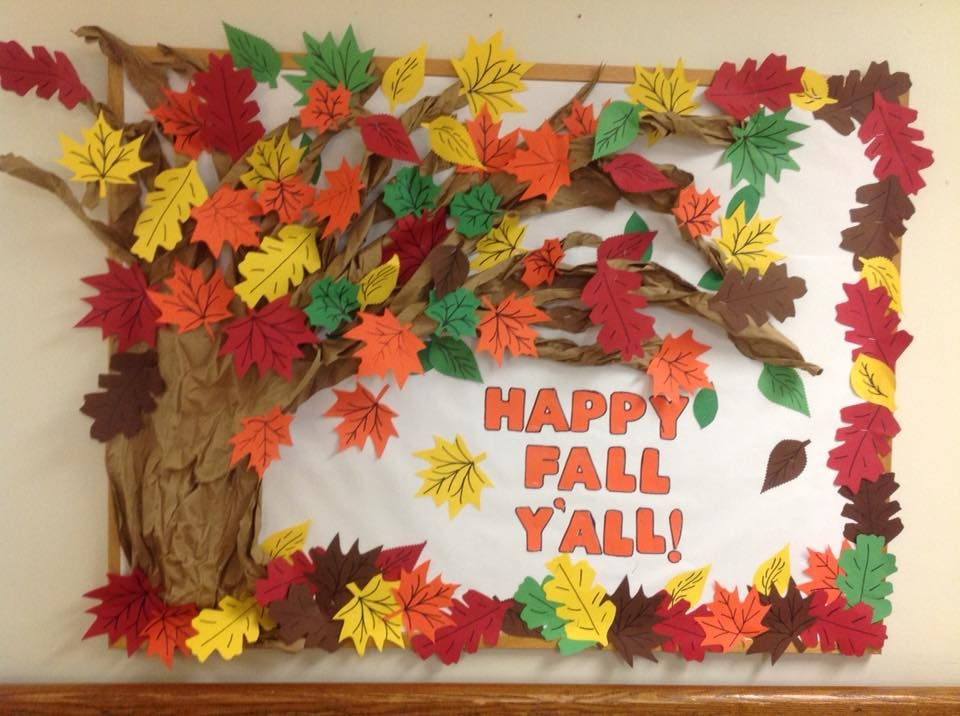 My fall bulletin board at the nursing home work for Nursing home christmas door decorations