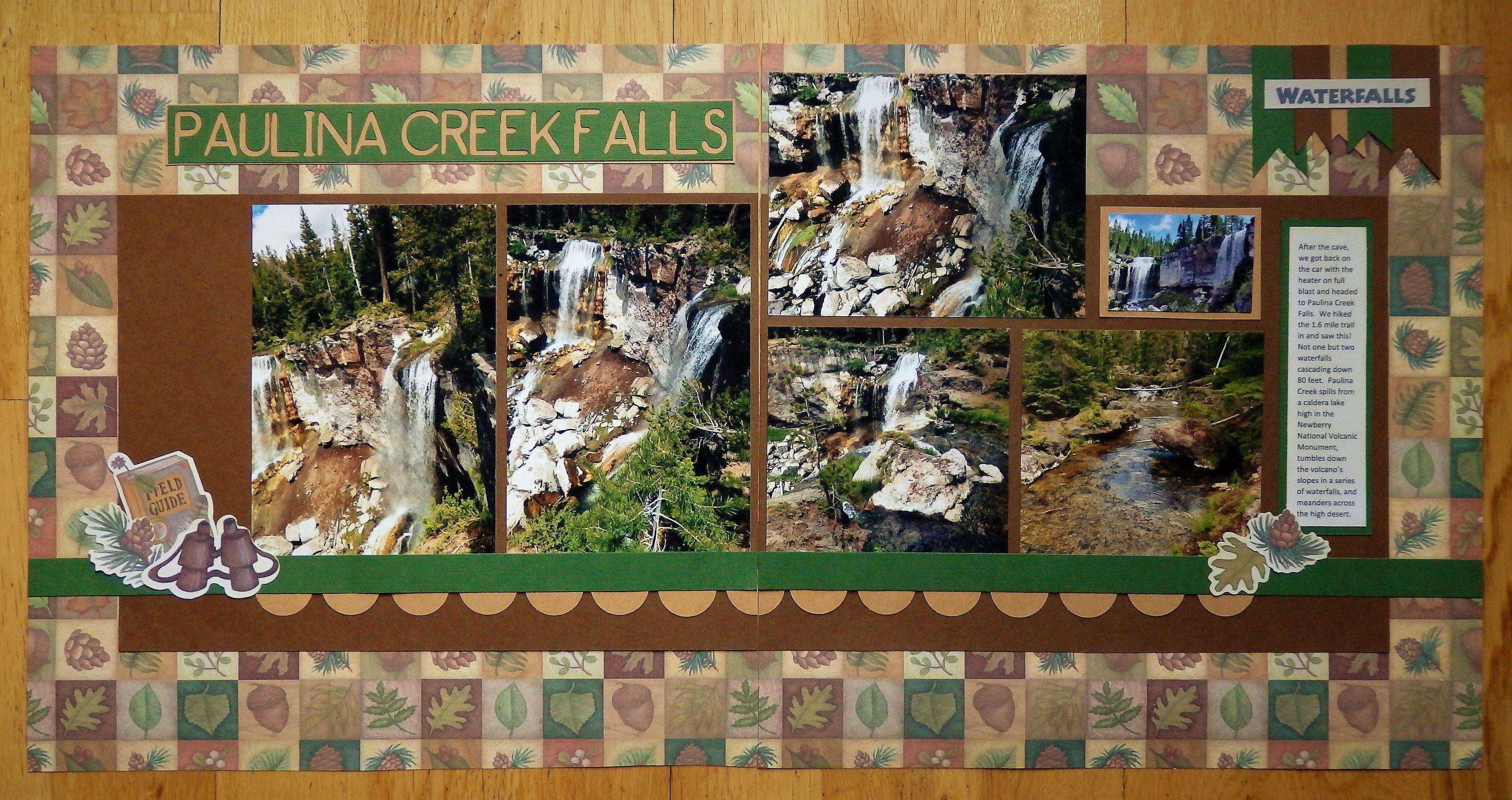 Paulina Creek Falls Or Scrapbook Com Travel Scrapbook Fall Creek