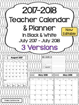 editable school calendar