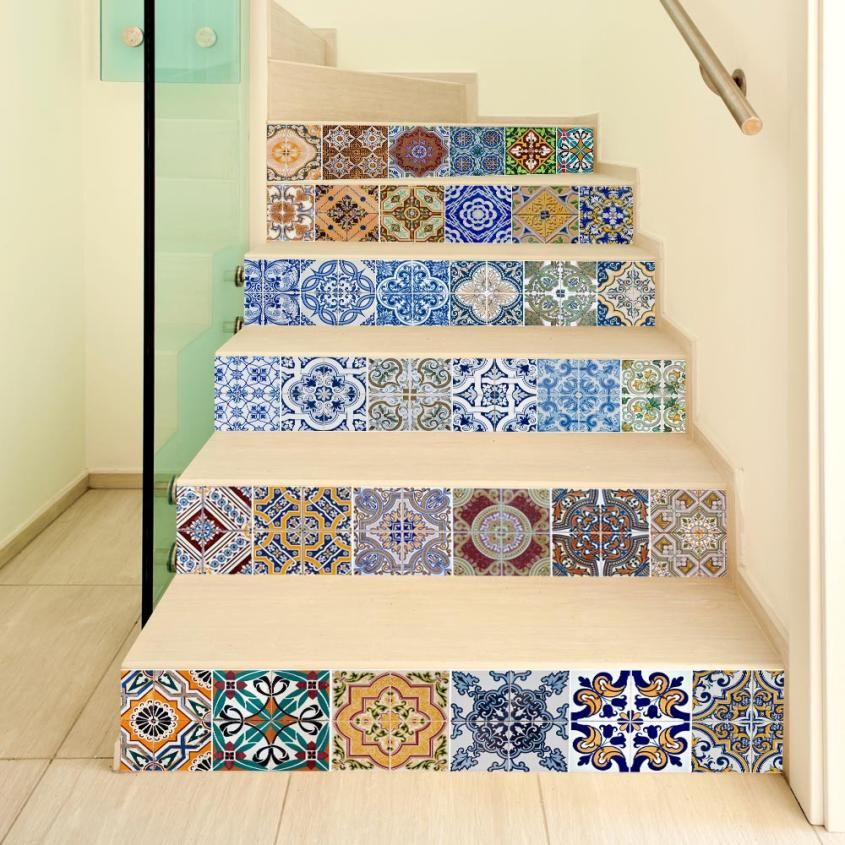 Tile Decoration Stickers Prepossessing 1Pc Diy Steps Sticker Removable Stair Sticker Decor Ceramic Tiles 2018