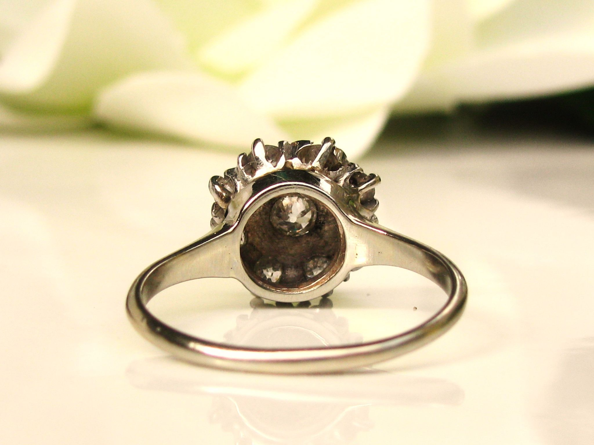 goldsmiths product ring and cluster diamond edwardian daisy