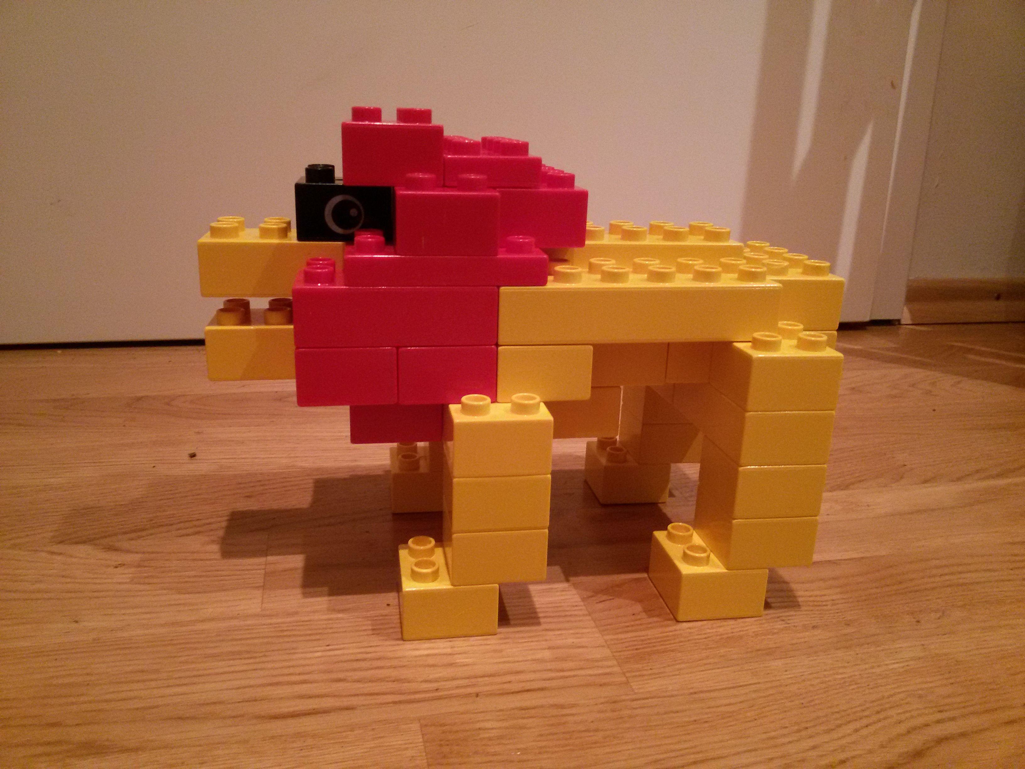 hier siehst du ein l we aus lego duplo diese und weitere bauideen bzw tiere gibt es auf. Black Bedroom Furniture Sets. Home Design Ideas