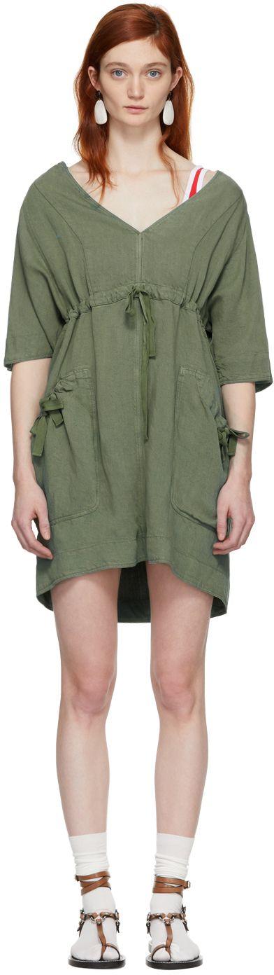 Khaki New Flou Wendell Dress Isabel Marant sYfyAvleY