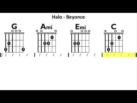 Halo (Beyonce) - Moving Chord Chart - YouTube | Guitar in 2018 ...