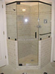 Corner Showers With Diagonal Door Google Search Corner Shower Enclosures Corner Shower Small Bathroom