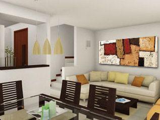 pintura moderna gran formato cuadro horizontal de grandes dimensiones perfecta para comedores modernos visita - Cuadros Grandes Dimensiones