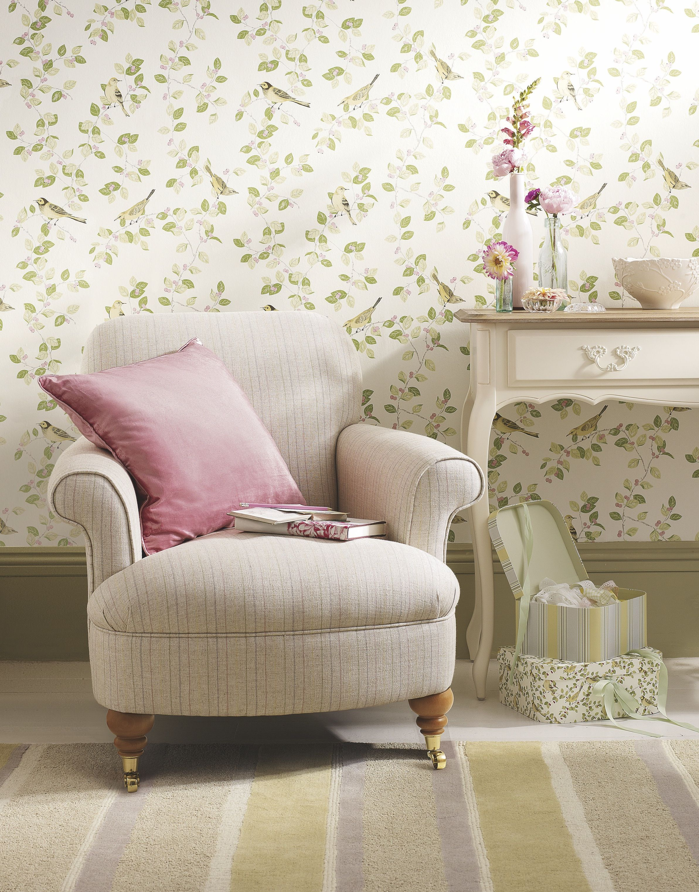 Flower Marquee  Spring Summer 2014  Laura Ashley  Home Fascinating Wallpaper Living Room Ideas For Decorating Review