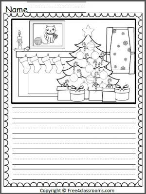 Christmas Color And Write Christmas Writing Christmas Worksheets Christmas Kindergarten